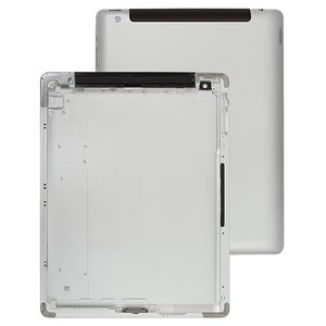 Back Cover compatible with Apple iPad 4, (silver, version 3G )