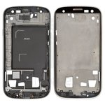 LCD Binding Frame compatible with Samsung I9305 Galaxy S3, (silver)