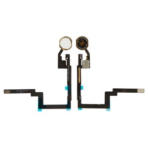 Flat Cable Apple iPad Mini 3 Retina, (Home button, with component, white)