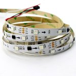 RGB LED Strip SMD5050, WS2811 (white, with controls, IP20, 12 V, 30 LEDs/m, 5 m)