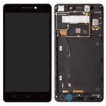 LCD Lenovo A7000, (black, with touchscreen, with frame, Original (PRC)) #055-1911-02/1540312483/YT55F60B0-FPC-C