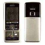Корпус для Nokia 6300, High Copy, сріблястий