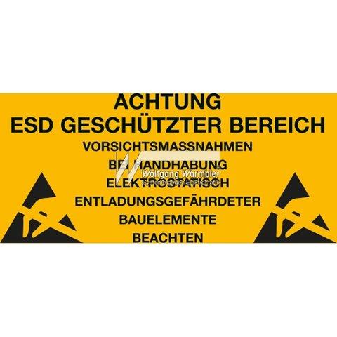 Предупреждающая наклейка об антистатической безопасности Warmbier 2850.300500.KS.D