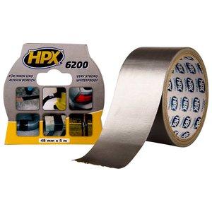 Стрічка армована одностороння HPX 6200, 50 мм, 10 м, срібляста