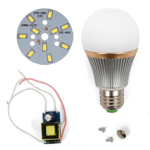 LED Light Bulb DIY Kit SQ Q22 5730 5 W cold white, E27 , Dimmable