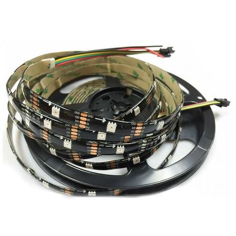 RGB LED Strip SMD5050, WS2813 with controls, black, IP65, 5 V, 30 LEDs m, 5 m